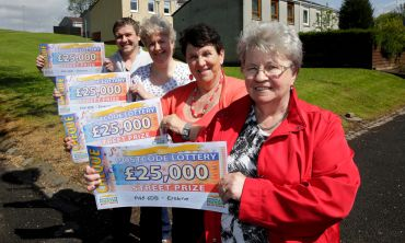 Players in Erskine have won £25,000 for every ticket they play in this week's Saturday Street Prize