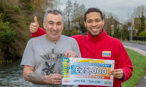John Cornish from Fairwater also won an amazing £25,000 this weekend