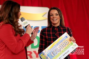 03. This winner was over the moon with her cheque
