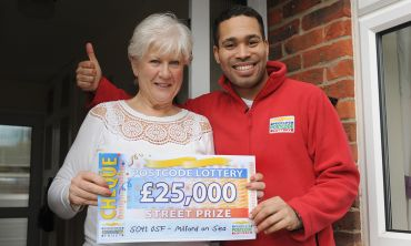 Christine Boyce, who lives in Milford on Sea, has won big in this weekend's Saturday Street Prize
