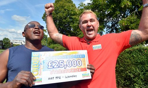 William in Wembley was the proud winner of £25,000 this weekend