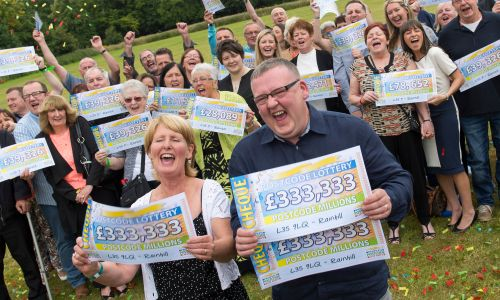 Rainhill players are celebrating their giant win in July's Postcode Millions