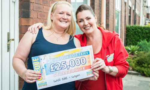 Wigan player Kerry Brown was stunned to win £25,000 this weekend