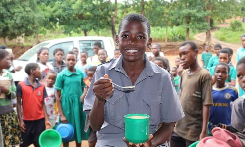 Malawian child Brown is one recipient of Mary's Meals' excellent work