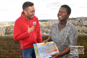 06. No wonder Fatima is laughing - Danyl Johnson's just given her £25,000!