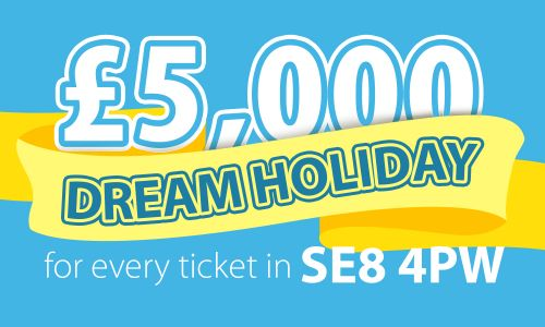 Players in SE8 4PW have won £5,000 Dream Holidays this weekend