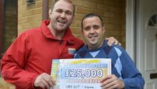 David Berryman in Hayes was the lucky winner of £25,000 this weekend