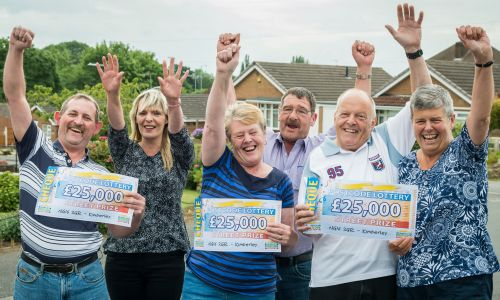 Our lucky Kimberley winners with their whopping Street Prize cheques