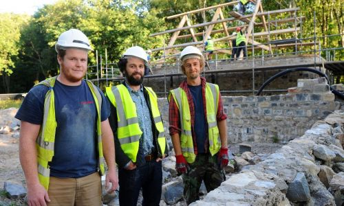 Funding from players also supports the salaries of two apprentice stonemasons at St Fagans National History Museum