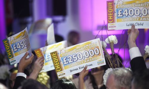 Good causes were awarded an incredible £5 Million at last night's 2016 People's Postcode Lottery Charity Gala
