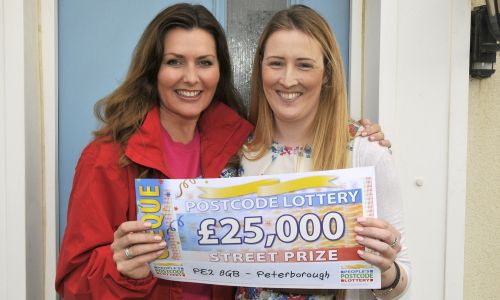 Claire Gibb in Peterborough was thrilled to have won a massive £25,000