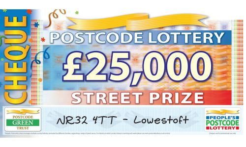 One lucky Lowestoft player has scooped £25,000 this weekend