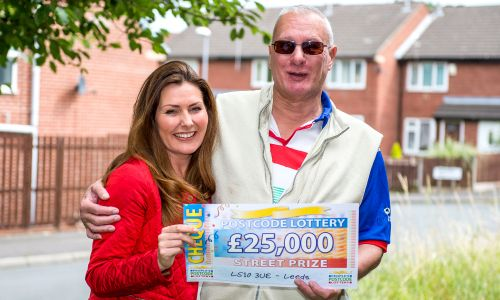 Brian Morris in Leeds was the lucky winner of £25,000 this weekend