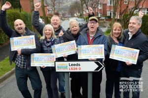 1. March's Postcode Millions landed in Leeds and five happy winners picked up their cheques
