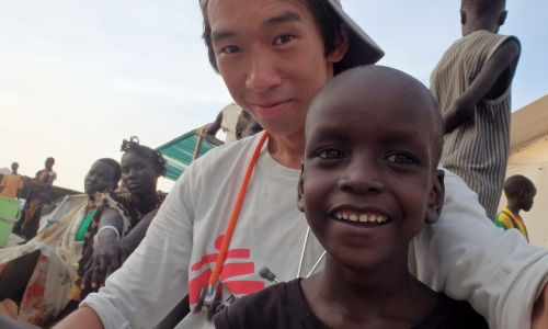 Dumfries Nurse Michael Shek spent six months in South Sudan