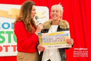 01. This winner giggled away when she saw her winning cheque