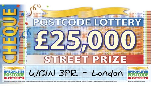 One lucky winner in postcode WC1N 3PR in London has picked up a whopping £25,000