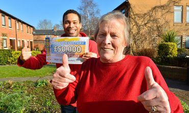 Jean from Newbury won a fantastic £50,000 this weekend