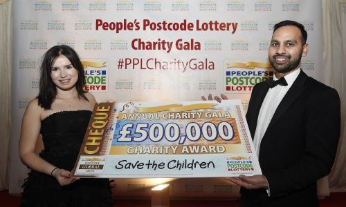 Save the Children received a £500,000 award from players of People's Postcode Lottery