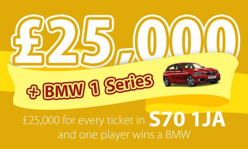 A lucky Barnsley player has won a fabulous £25,000 cash prize as well as a brand new BMW