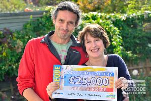 Sara would like to spend her winnings on a new kitchen and a holiday with partner Mick
