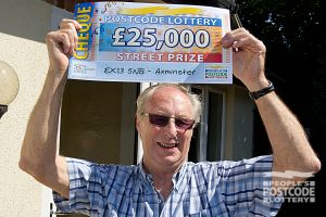 Edward was the only winner in his postcode, scooping £25,000