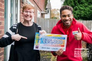 Lucky Katie was ecstatic with her £25,000 win