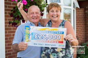 Raymond plans to take his wife Susan to the Edinburgh Tattoo and the Proms with his winnings