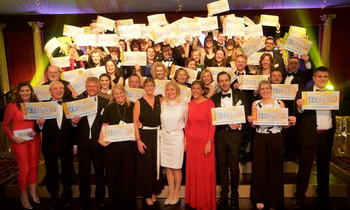 Representatives from supported charities with their cheques at People's Postcode Lottery's Charity Gala 2017