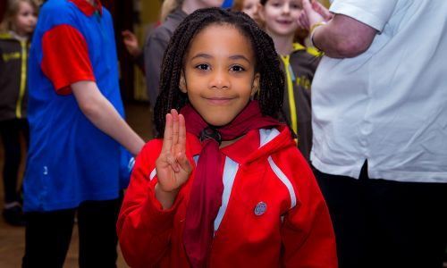 Girlguiding supports girls across Great Britain