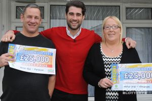 Couple Martin and Lorraine were delighted to scoop £25,000 each