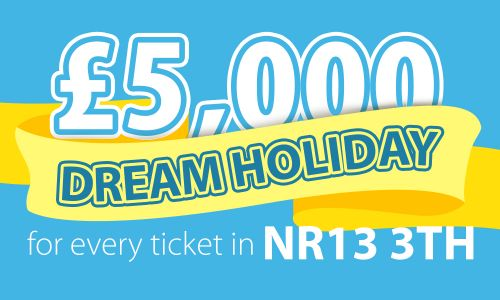 Two lucky players in postcode NR13 3TH in Reedham have won £5,000 Dream Holidays
