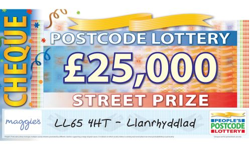 Llanrhyddlad players in LL65 4HT are £25,000 richer today