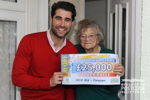 Lucky winner Patricia plans to spend her winnings improving her home