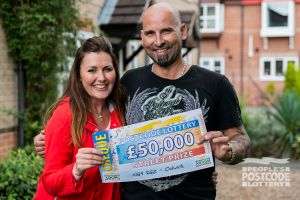 Andrew won a whopping £50,000 as he plays with two tickets