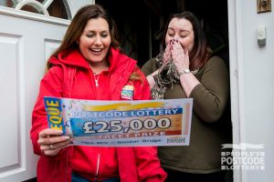 Winner Sam was shocked to find out she had won £25,000