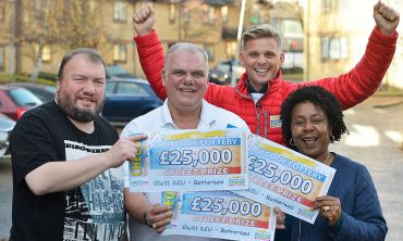 The lucky Battersea winners are pleased with their £25,000 wins