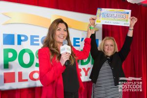 Judie making another Postcode Millions winner's Saturday!