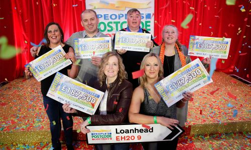 An incredible six Loanhead players each won £187,500 in January's Postcode Millions