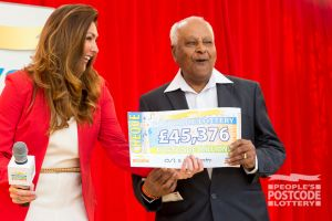 06. It's quite a feeling to pick up a £45,376 cheque!