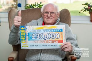 Robert was happy to win a whopping £30,000