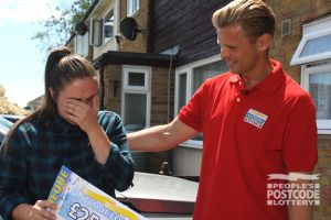 Emotional winner Katrina couldn't believe her luck