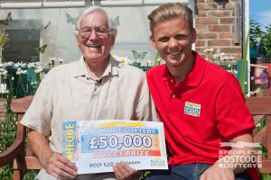 David plays with two tickets so he scooped an incredible £50,000