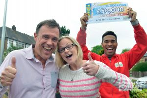 08. It's happy days for our Hornchurch £50,000 winners!