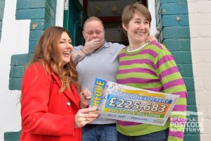 Stephanie plays with the full winning postcode of PL2 1HP so scooped a whopping £225,683