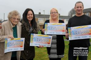 The lucky Fareham winners and their fabulous £25,000 cheques
