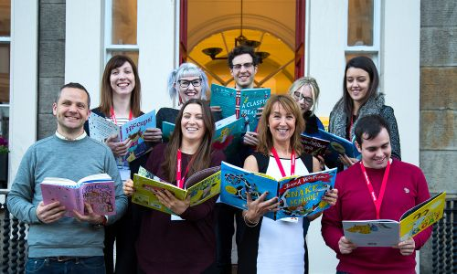 A team from People's Postcode Lottery will be heading out to read with children