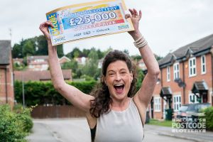 Deborah is extremely pleased with her win