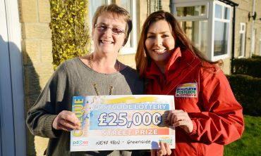 Dawn Hayes of Greenside was overjoyed to win £25,000 this weekend