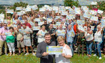 Our lucky Mansfield winners in the July Postcode Millions